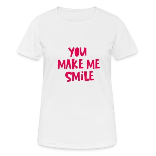 You Make Me Smile - Maglietta da donna traspirante