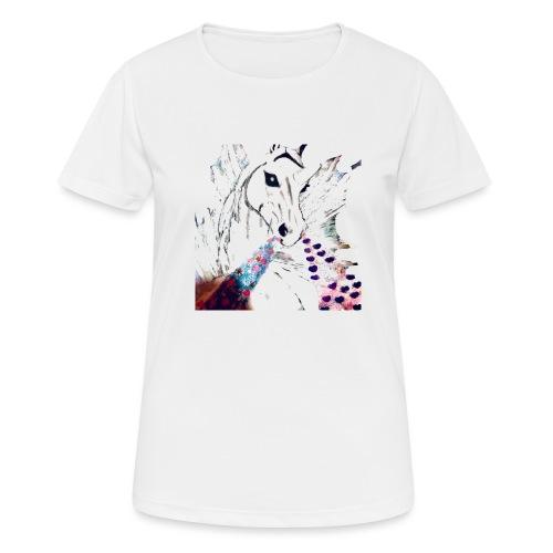 Unicorn met hartjes - Vrouwen T-shirt ademend actief