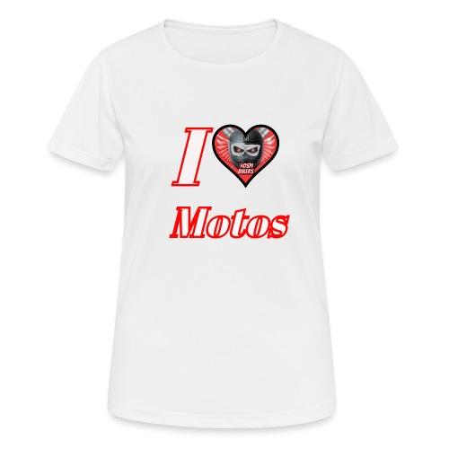 ilovemotos - Camiseta mujer transpirable