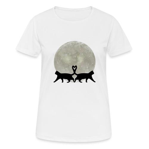 Cats in the moonlight - Vrouwen T-shirt ademend actief