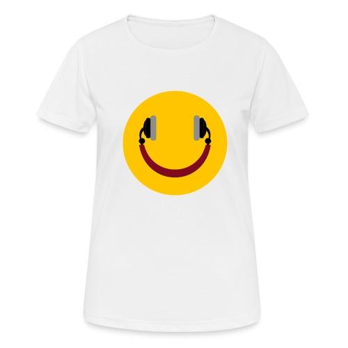 Smiling headphone - Dame T-shirt svedtransporterende