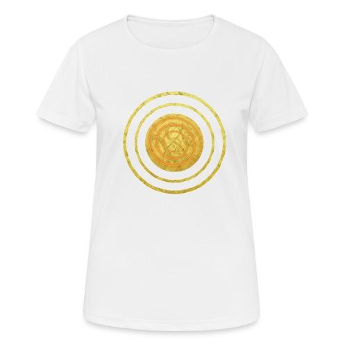 Glückssymbol Sonne - positive Schwingung - Spirale - Frauen T-Shirt atmungsaktiv