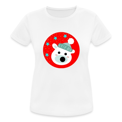 Winter bear - Women's Breathable T-Shirt