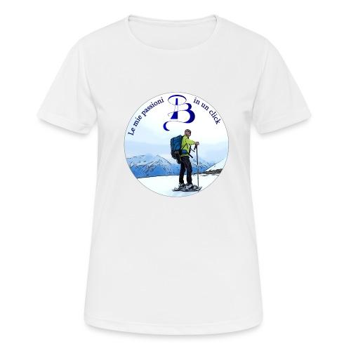 Logo cartone ciaspole - Maglietta da donna traspirante