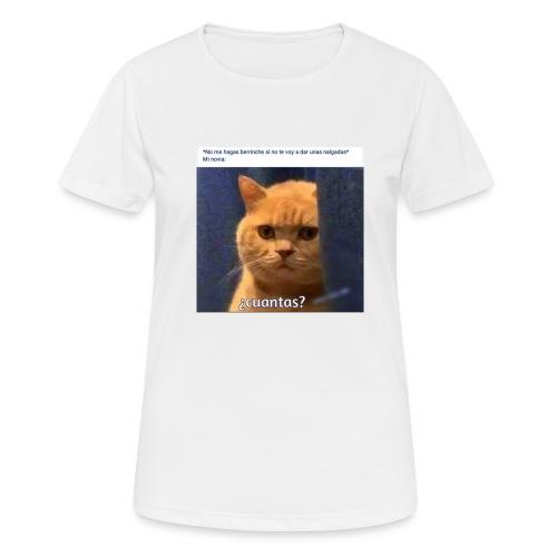 Cat nalgadas - Camiseta mujer transpirable