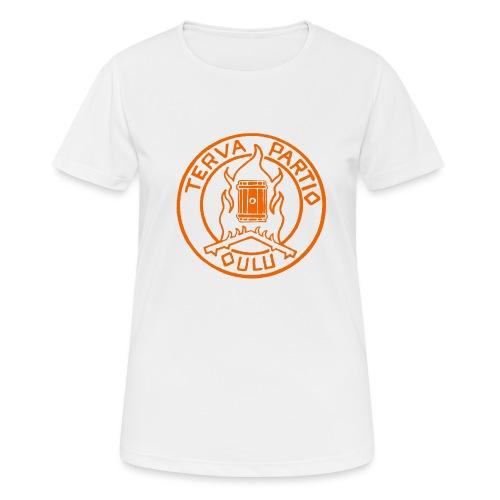 Tervapartio_oranssi - naisten tekninen t-paita