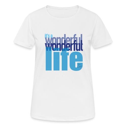 It's a wonderful life blues - Women's Breathable T-Shirt