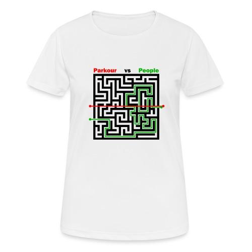 Parkour Maze parkour vs people - Dame T-shirt svedtransporterende