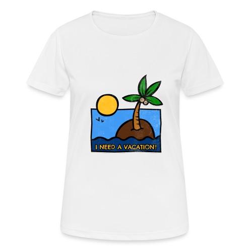 Vacation-png - Maglietta da donna traspirante