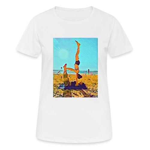 Schulterstand - Frauen T-Shirt atmungsaktiv