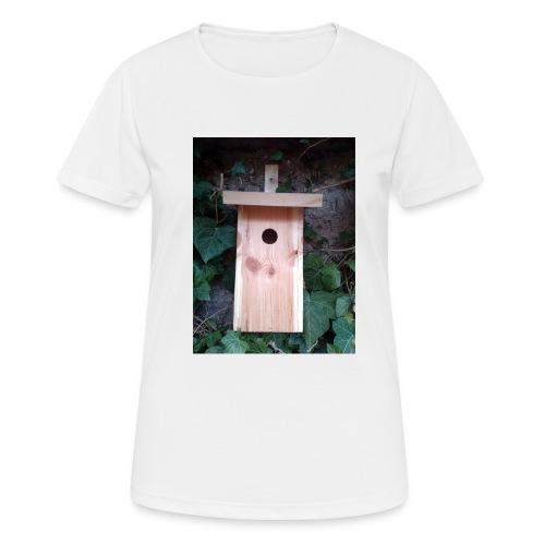 Der Nistkasten - Luxus für den Garten-Vogel - Frauen T-Shirt atmungsaktiv