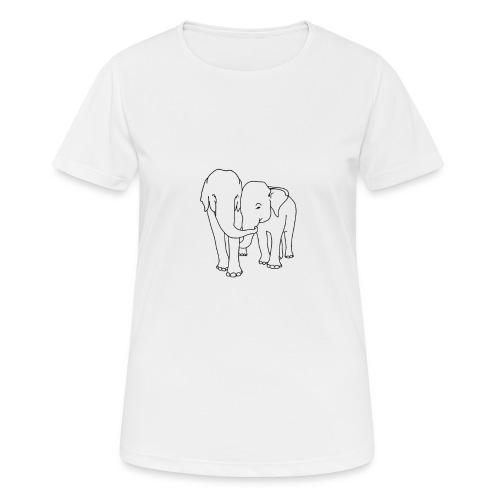 Olifanten - Vrouwen T-shirt ademend actief