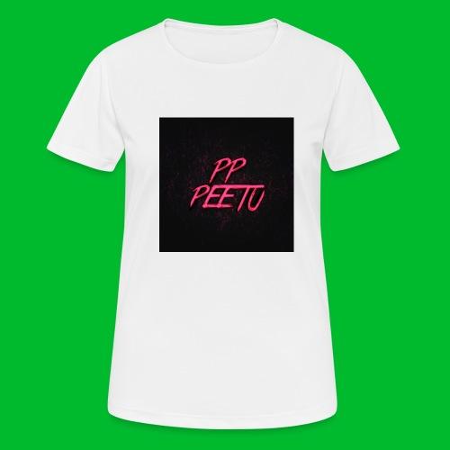 Ppppeetu logo - naisten tekninen t-paita