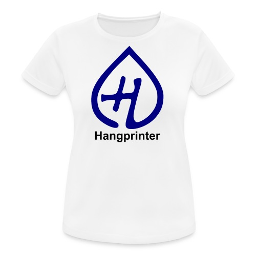 Hangprinter logo and text - Andningsaktiv T-shirt dam