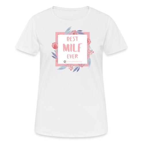 Best MILF ever - Milfcafé Shirt - Frauen T-Shirt atmungsaktiv