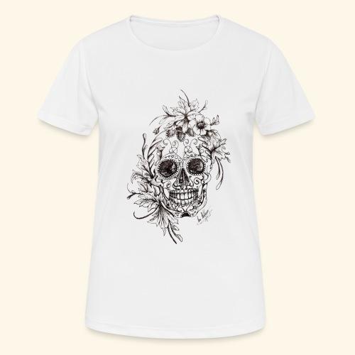 SkullDrawings - Andningsaktiv T-shirt dam