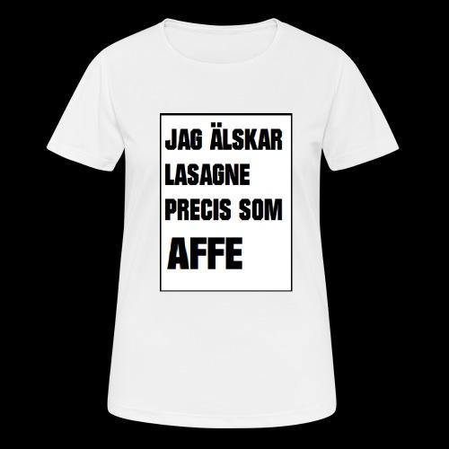 Affe älskar lasagne - Andningsaktiv T-shirt dam