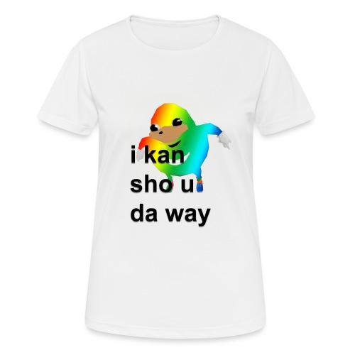 uganda - naisten tekninen t-paita
