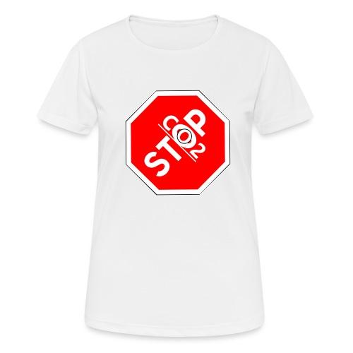 Co2-OuT! Stop Co2 - Frauen T-Shirt atmungsaktiv