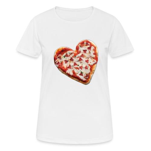 Pizza a cuore - Maglietta da donna traspirante
