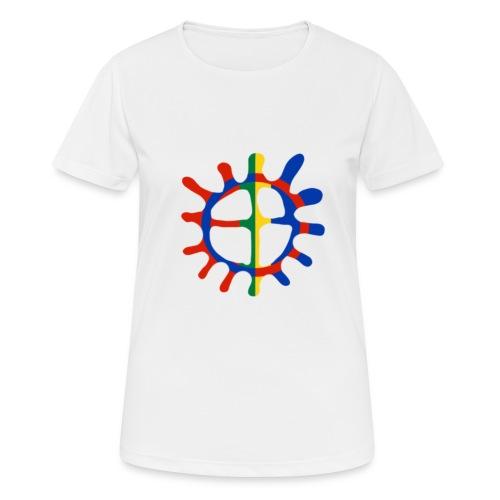 Samisk sol - Pustende T-skjorte for kvinner