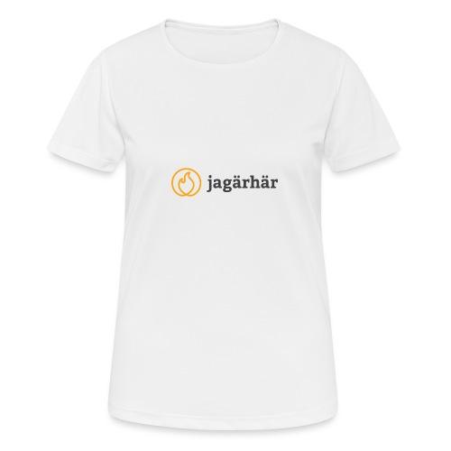 #jagärhär - Andningsaktiv T-shirt dam