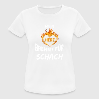 Gift T-shirt Heart burns chess - Women's Breathable T-Shirt