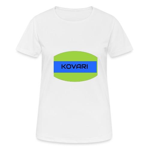 Kovari Logo - naisten tekninen t-paita