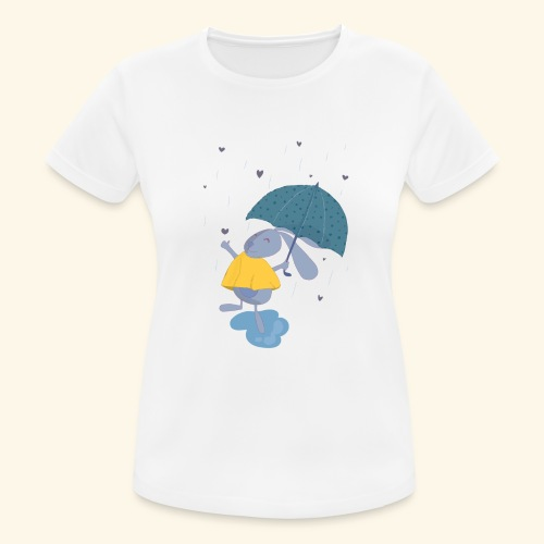 happy in the rain - Women's Breathable T-Shirt
