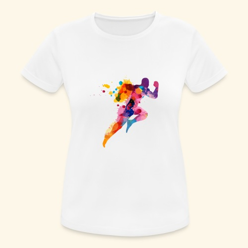 Running colores - Camiseta mujer transpirable