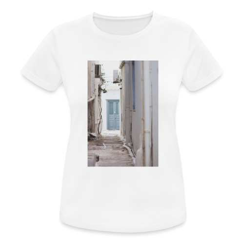 empty street in Mykonos - Koszulka damska oddychająca
