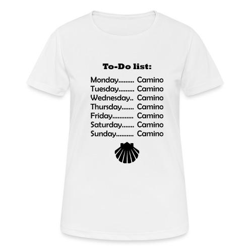 To-do list: Camino - Dame T-shirt svedtransporterende