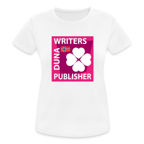 Duna Writers Publisher Pink - Pustende T-skjorte for kvinner