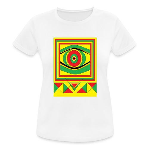 ALL seeing eye RASTA burn down babylon Original - Vrouwen T-shirt ademend actief