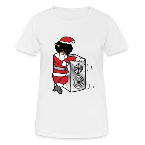 Afro Santa w/ Music Speaker - Women's Breathable T-Shirt
