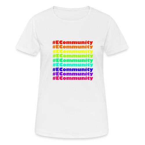 Ecommunity Rainbow - Frauen T-Shirt atmungsaktiv