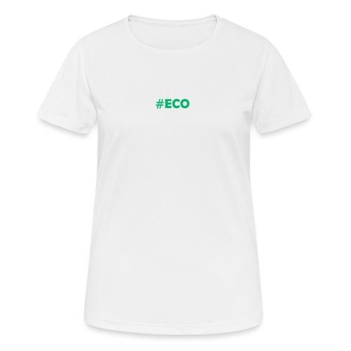 #ECO Blue-Green - Frauen T-Shirt atmungsaktiv