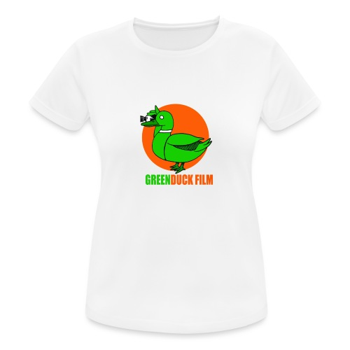 Greenduck Film Orange Sun Logo - Dame T-shirt svedtransporterende