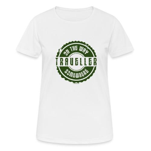 FP13 TR-02 ON THE WAY SOMEWHERE-TRAVELLER PRODUCTS - naisten tekninen t-paita