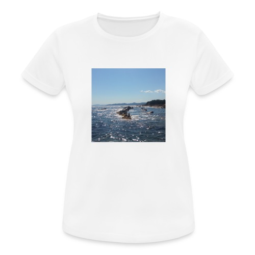 Mer avec roches - T-shirt respirant Femme