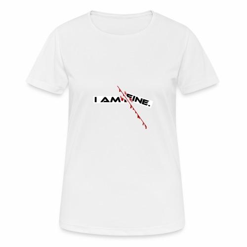 I AM FINE Design mit Schnitt, Depression, Cut - Frauen T-Shirt atmungsaktiv