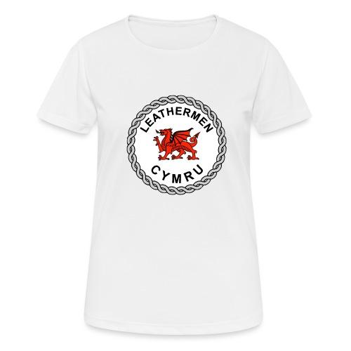 LeatherMen Cymru Logo - Women's Breathable T-Shirt