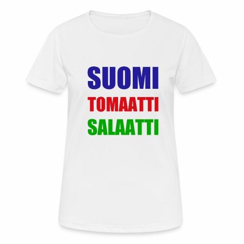 SUOMI SALAATTI tomater - Pustende T-skjorte for kvinner