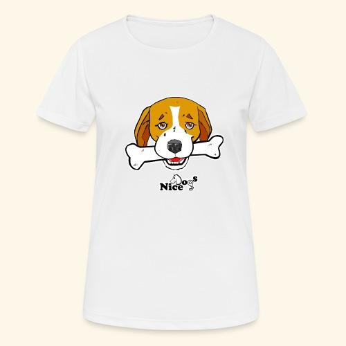 Nice Dogs Semolino - Maglietta da donna traspirante