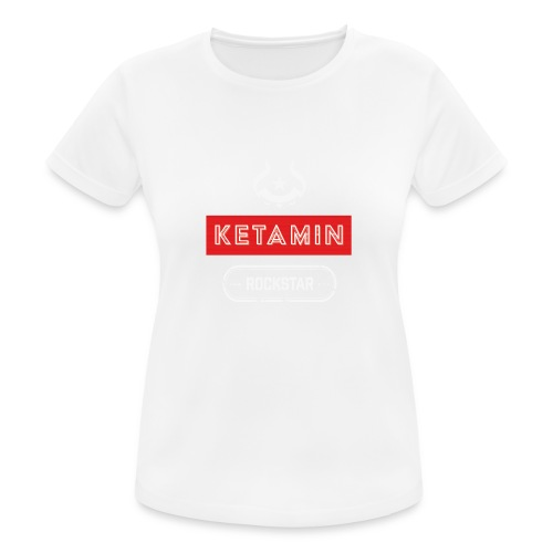 KETAMIN Rock Star - Weiß/Rot - Modern - Women's Breathable T-Shirt