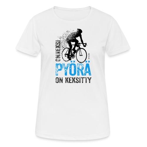 Onneksi pyörä on keksitty - Road bike b - naisten tekninen t-paita