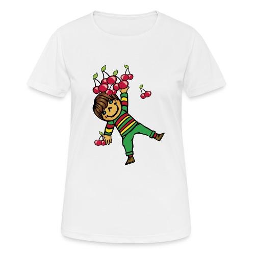 08 kinder kapuzenpullover hinten - Frauen T-Shirt atmungsaktiv