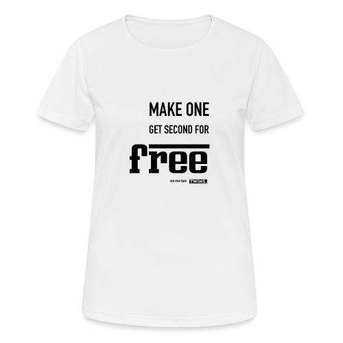 TWINS. make one get second for free - Frauen T-Shirt atmungsaktiv