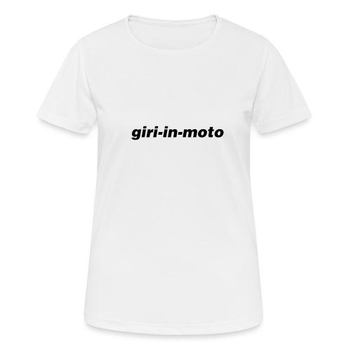 GIRI IN MOTO LIFESTYLE CLASSIC NERO - Maglietta da donna traspirante