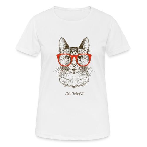 Vorschau: Cat Hipster - Frauen T-Shirt atmungsaktiv